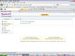 Klik pada bagian ' submit a website or webpage '